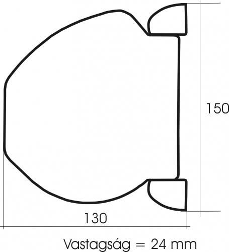 Kagylós redőnyautomata méretei